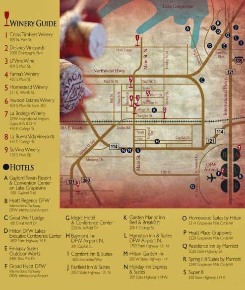 Map Of Texas Wineries.Video Grapevine Wine Trail A Texas Wine Trail In The Heart Of The