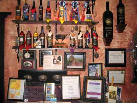 LightCatcher Winery Wall of Awards