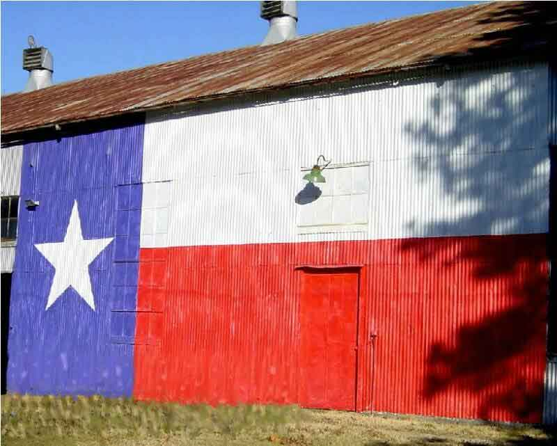 Texas Flag Painted Barn