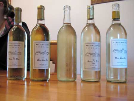 Watson Vineyard Blanc Du Bois Vertical Tasting - Saddlehorn Winery