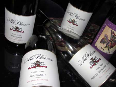 McPherson Cellars 2010 Wines