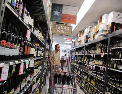 Texas-Wine-Section
